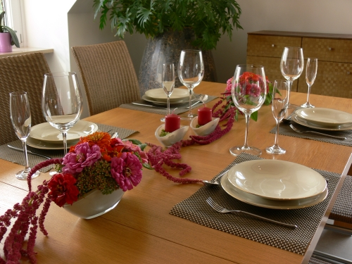 Tischdeko rosa for Tischdeko rosa